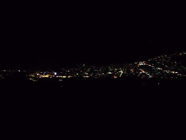 山道からの夜景
