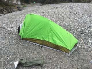 奥多摩方面の川井駅すぐそば川井キャンプ場でスペインキャンプしてきた!!
